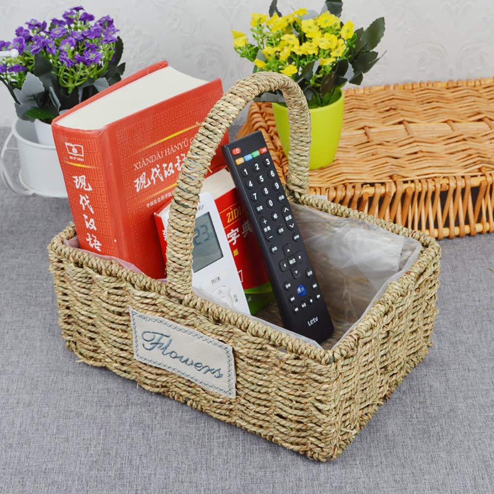 Queta paglia fiore cestino in rattan, cestino in vimini vaso di fiori creative vimini vaso fioriera Plant Round basket