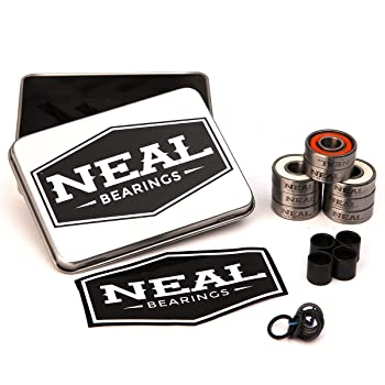 Neal Precision Skate Bearings/3 Different Types - Ceramic - Swiss - Titanium/608rs