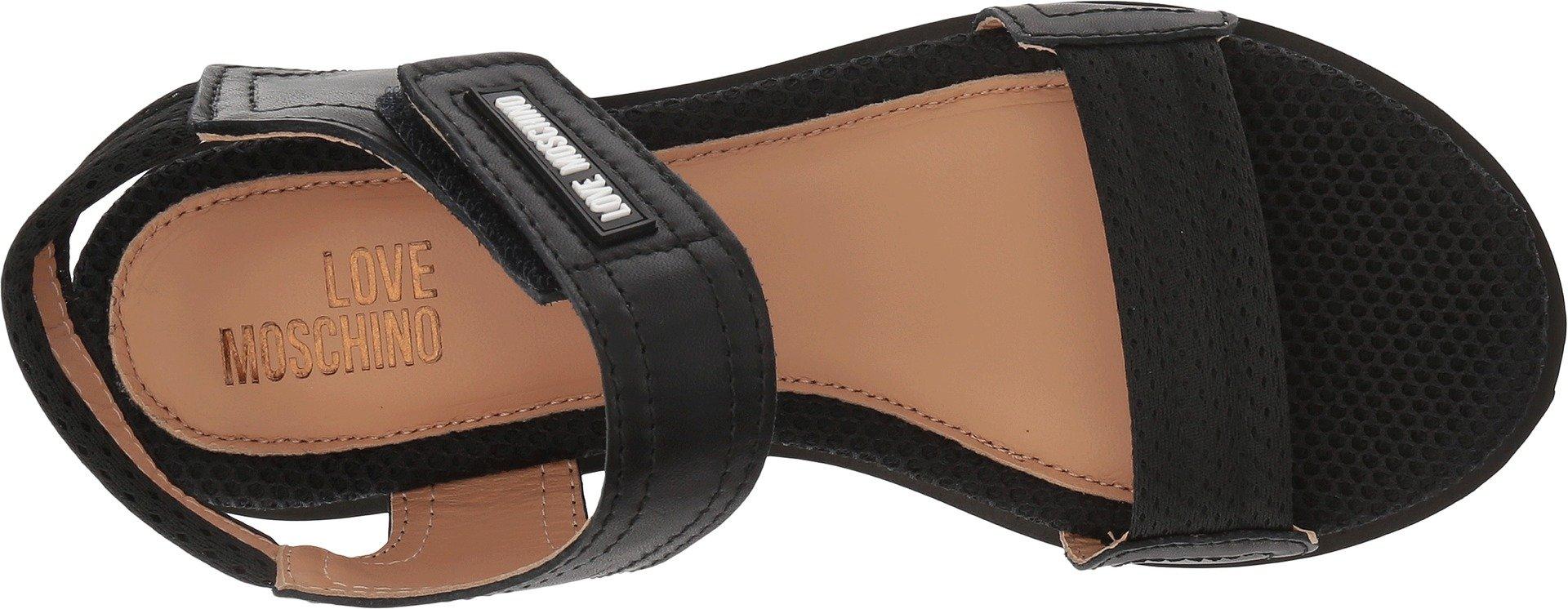 Love Moschino Women's Mesh Sandal Black 35 M EU by Love Moschino (Image #2)