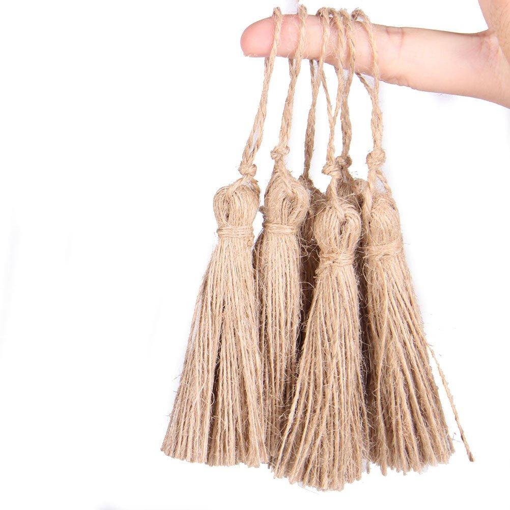 Pixnor chiave nappa iuta iuta corda nappa fascino per gioielli fai da te Decorazione da appendere