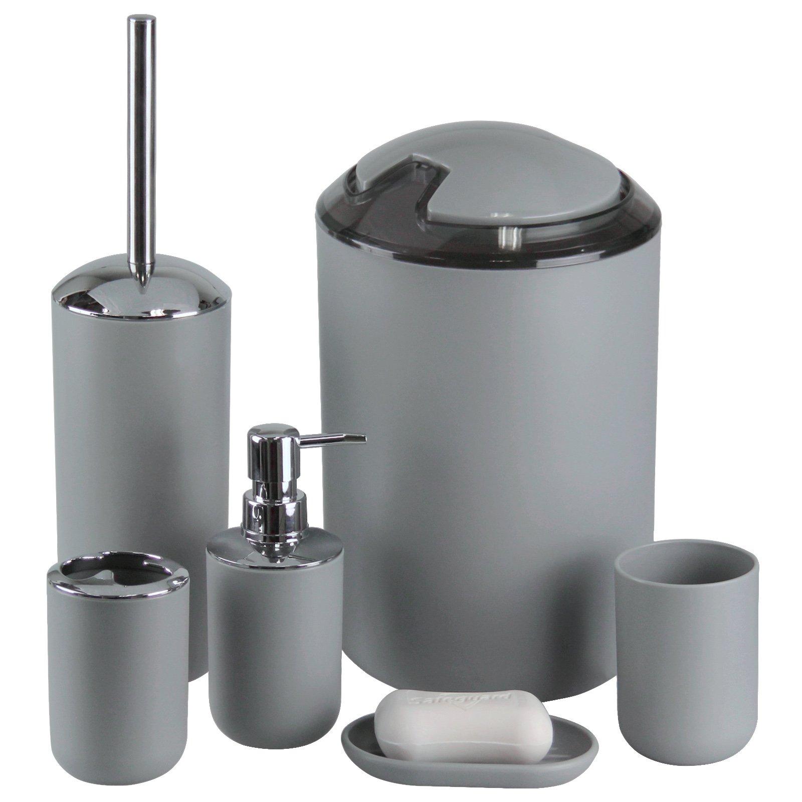 Imavo bathroom accessories set 6 pcs plastic gift set - Bathroom accessories soap dispenser ...