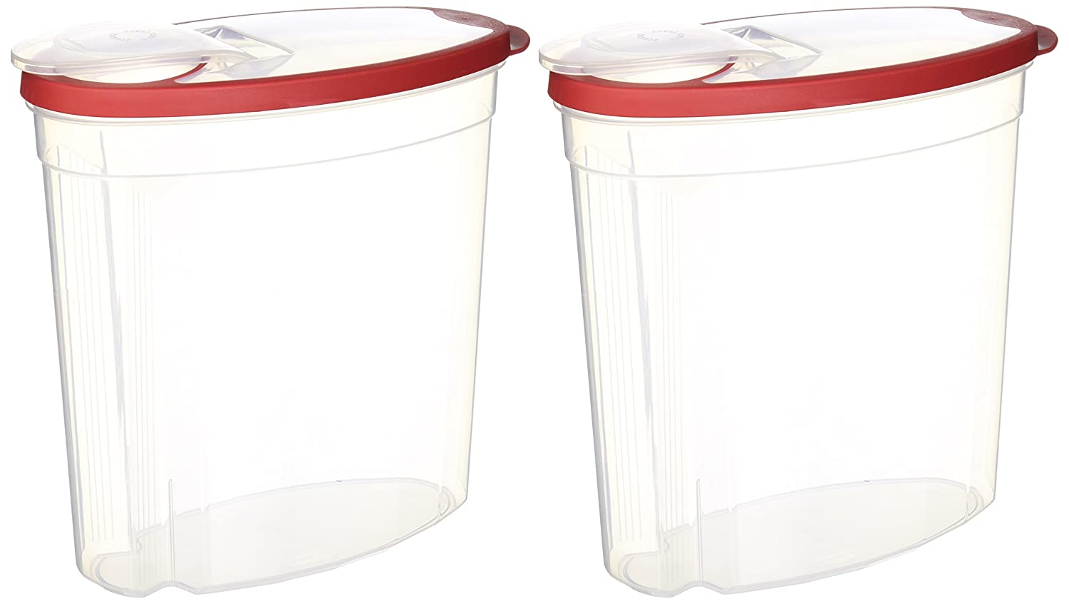 Rubbermaid SYNCHKG076982 714270014505 Cereal/Snack Storage, 1.5 Gal (Pack of 2 Containers), 1.5 Gallon, Red