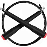 Speed Skipping Rope,Omorc Unisex Sport Jumping Rope Crossfit, Boxing, MMA. Adjustable Length Cable with Lightweight, Strong Ball Bearing Suitable for Double Unders - 3m /10ft