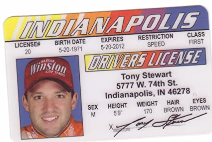 Fake Fans d Tony For License Identification Novelty Nascar I Drivers amp; Amazon Toys com Games Stewart