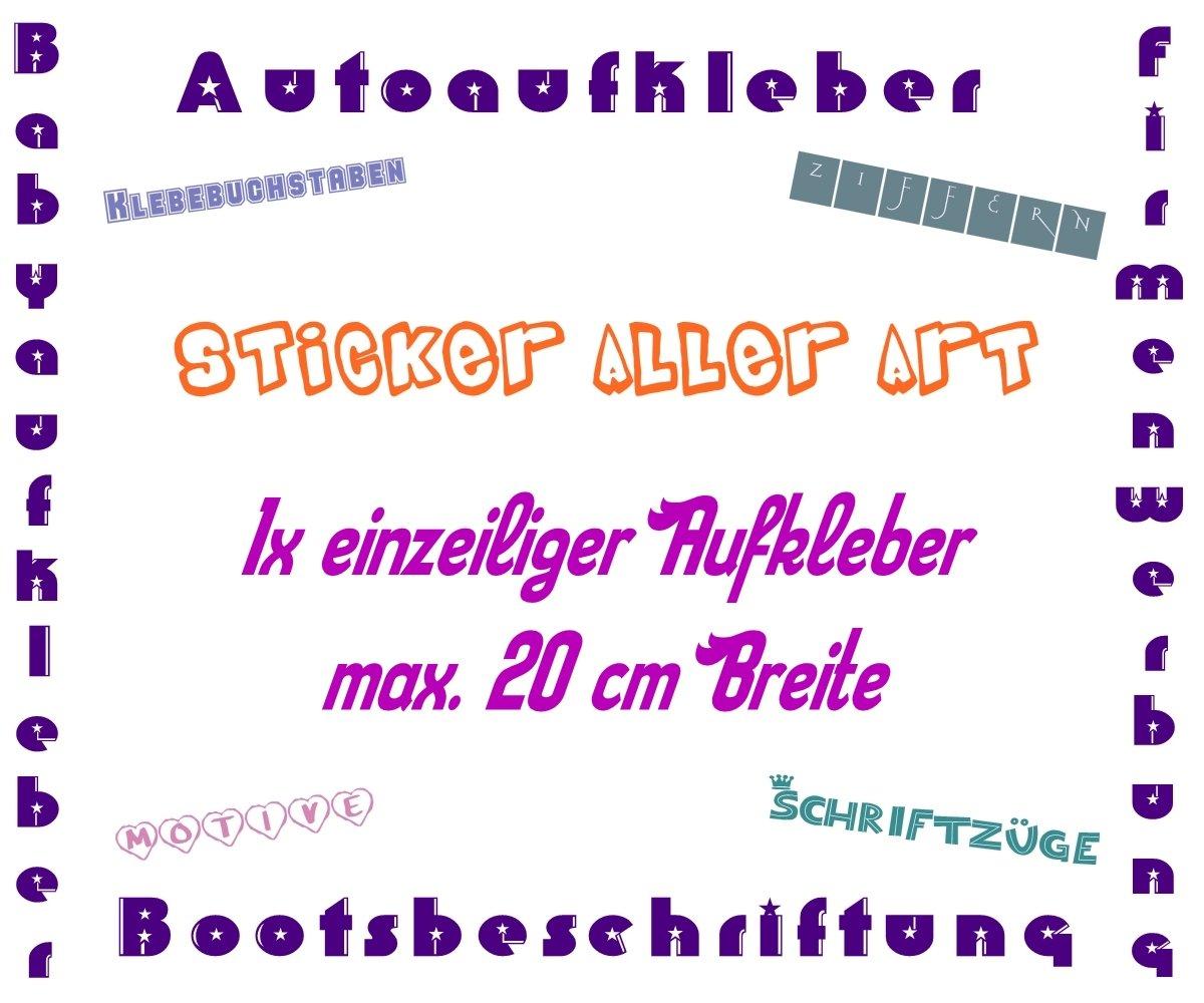 Dein Text Schrift Werbung Wunschtext Folie Aufkleber Für Auto Beschriftung Bis 20 Cm Baby