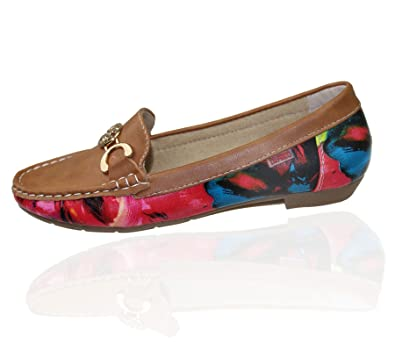 great quality meet more photos Womens Loafers Flat Casual Comfort Office Ladies Floral Summer ...