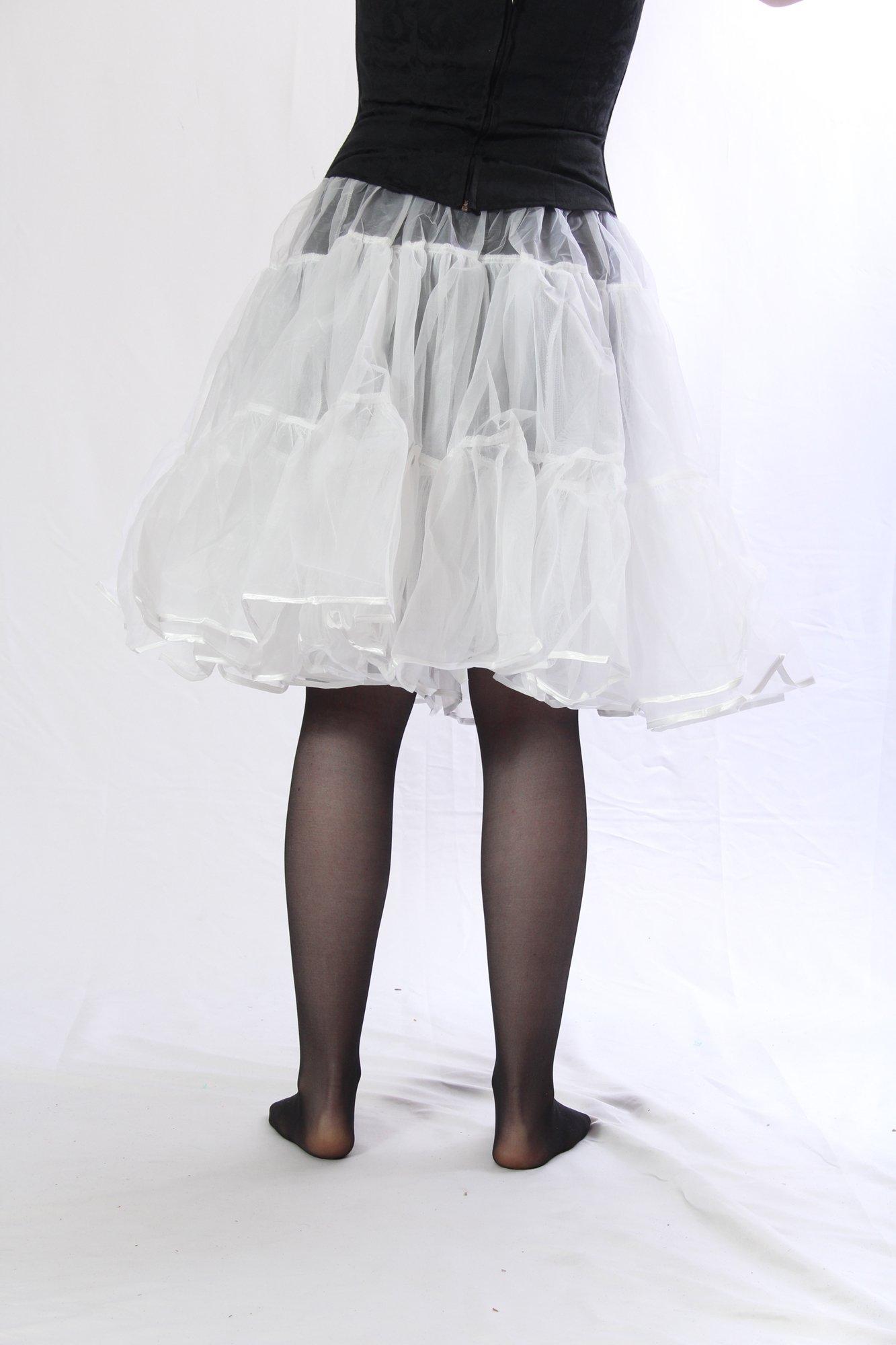 Petticoat Crinoline. Perfect Petticoat Skirt for Vintage Dresses, Petticoat Dresses, Poodle Skirts as Rockabilly Adult Tutu Skirt. Tulle Fabric; 22' Length - White Petticoat by BellaSous (Image #5)