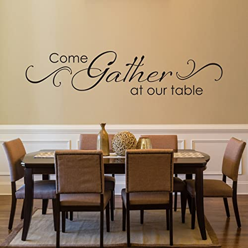 Amazon Com Come Gather At Our Table Decal With Scroll Design