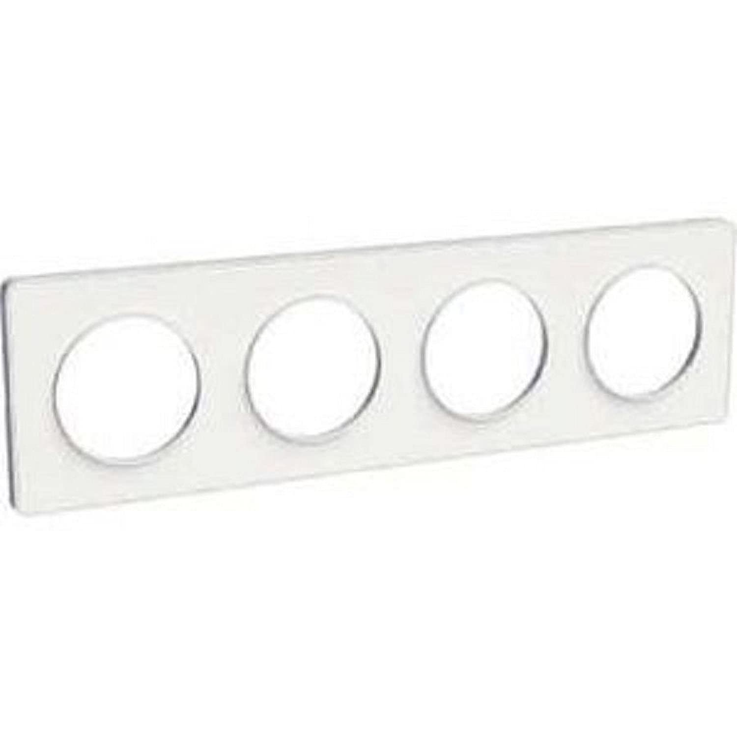 71/mm /Blanc 4 Plaque Odace Touch Blanc entraxe 71/mm/