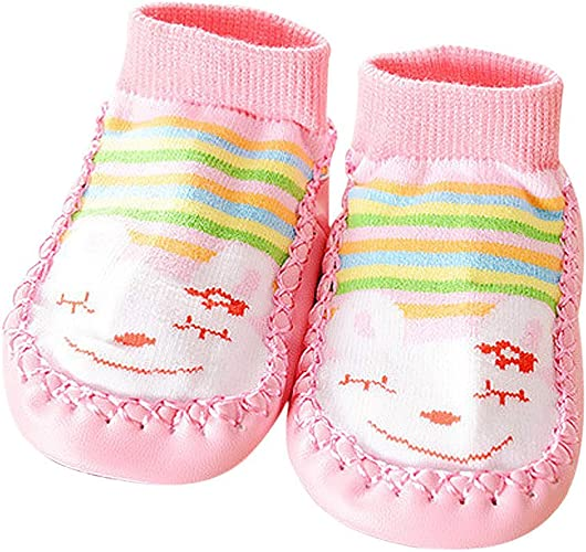 Iuhan Anti Slip Non Skid Slipper Socks For Baby Toddler Kids Girls Shoes Boots