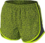 NIKE Women's Tempo Printed Running Shorts (Volt, S)