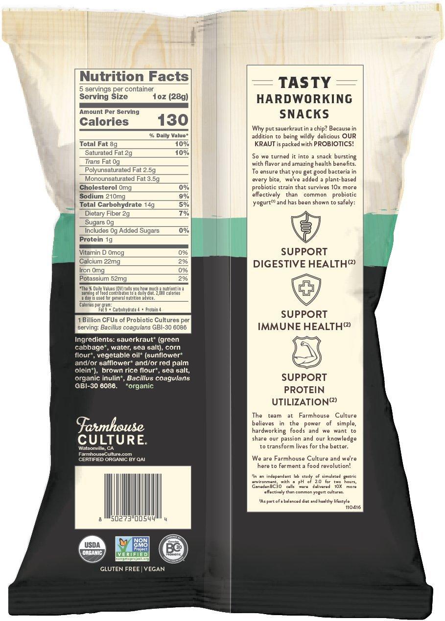 Farmhouse Culture Kraut Krisps, Sea Salt Bags, 12-5 oz.