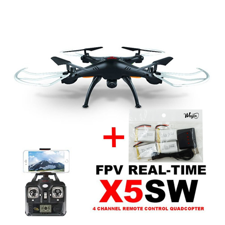 WayIn® De Syma X5SW Exploradores FPV 2.4GHz cámara de 4 canales ...