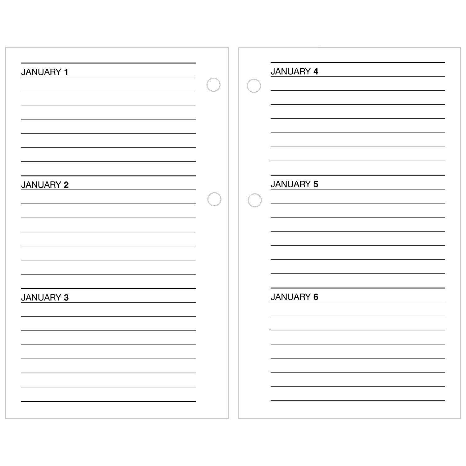 AT-A-GLANCE Daily Desk Calendar 2017Refill, January - December, 3-1/2 x 6'' (E71750) by AT-A-GLANCE (Image #3)