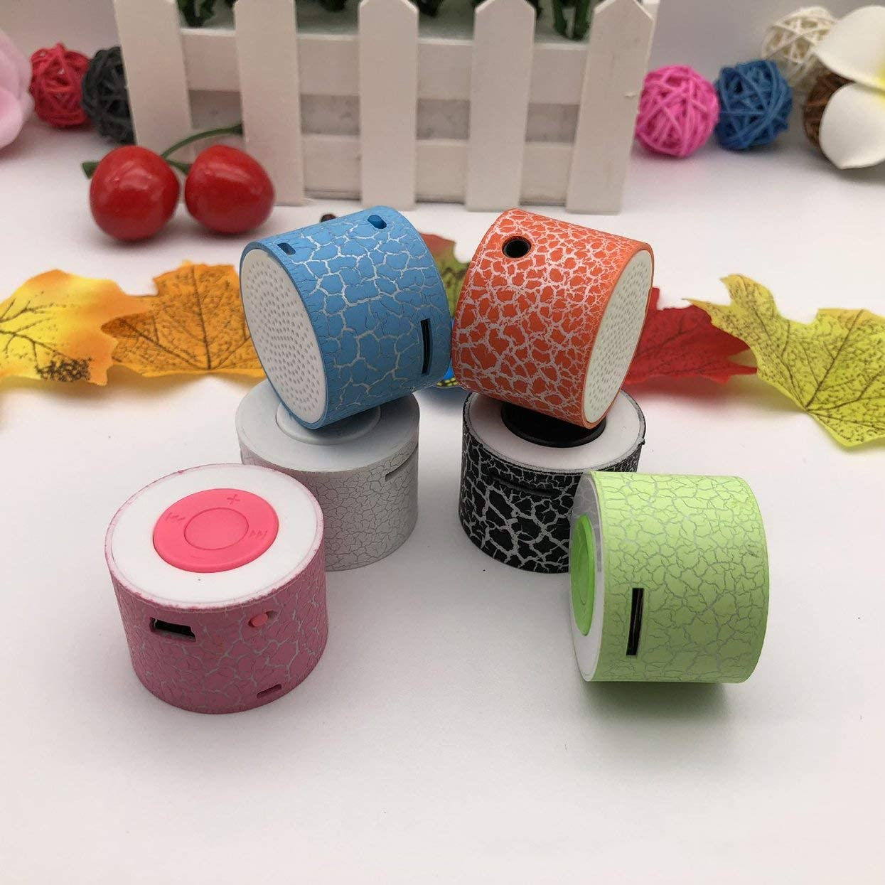 Detectorcatty MX-388 Mini Speaker USB Flash Drive Micro SD//TF Card Music MP3 Player FM Radio Porcelain Plastic Speakers