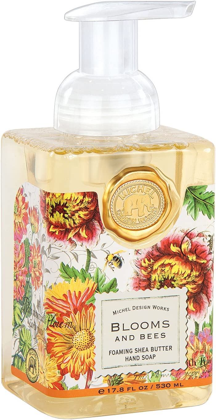 Michel Design Works Foaming Hand Soap, 17.8-Ounce, Blooms and Bees