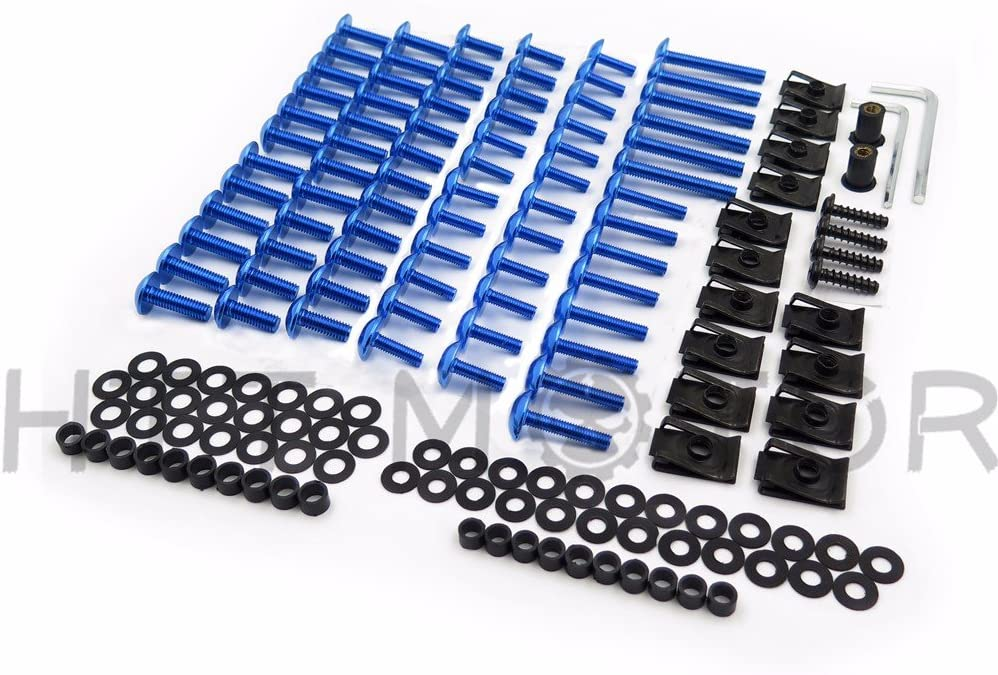Motorcycle Complete Fairing Bolts Screws Fasteners Kit For Yamaha Yzf R1 R6 F6R Fz1 Fz8 Blue SMT MOTO