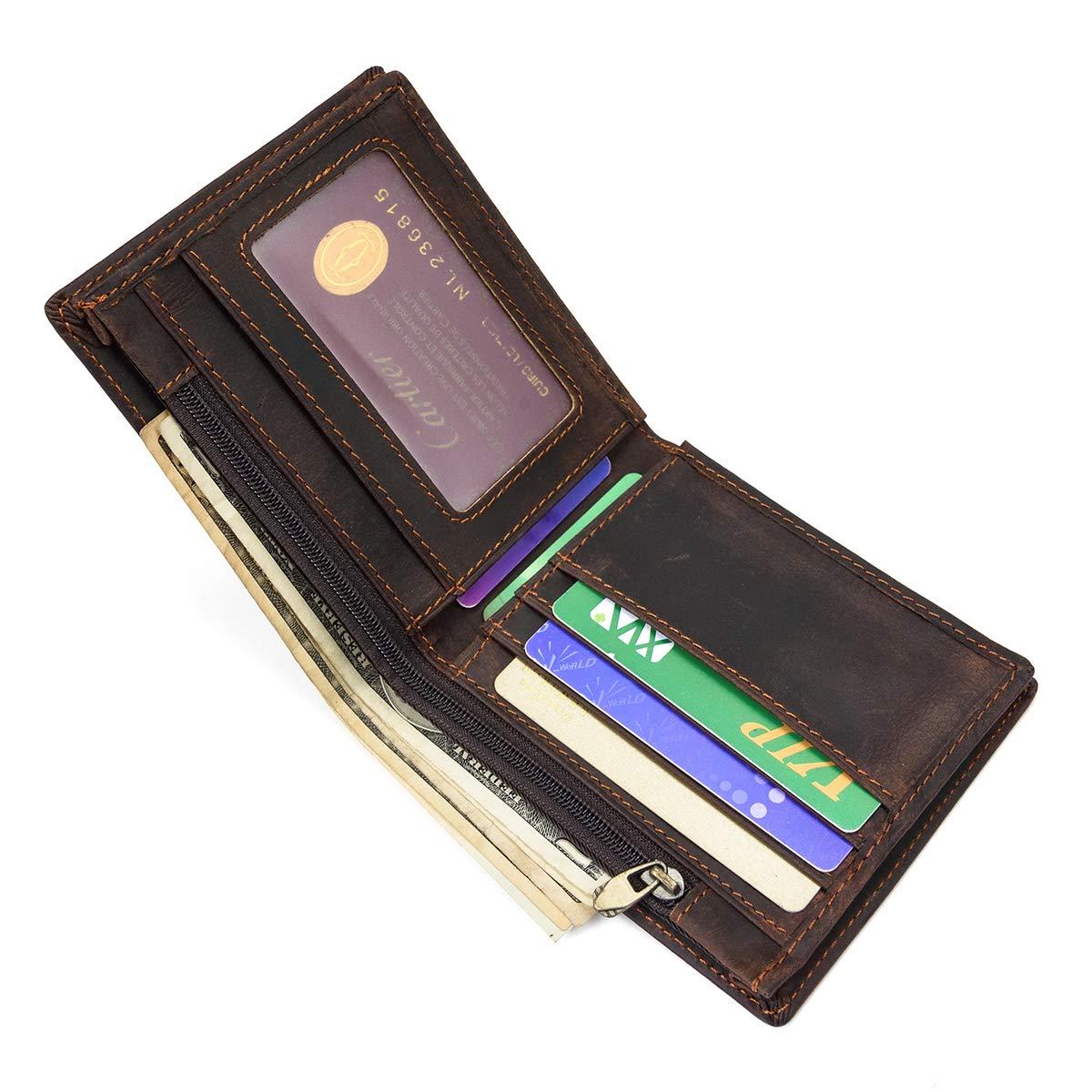 Amazon.com: LuUFAN billetera de cuero genuino para hombre ...