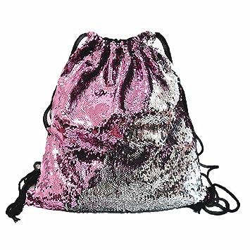 Sonstige Spielzeug-Artikel pink/silber Turnbeutel mit Pailletten
