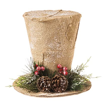 cypress home burlap top hat christmas tree topper