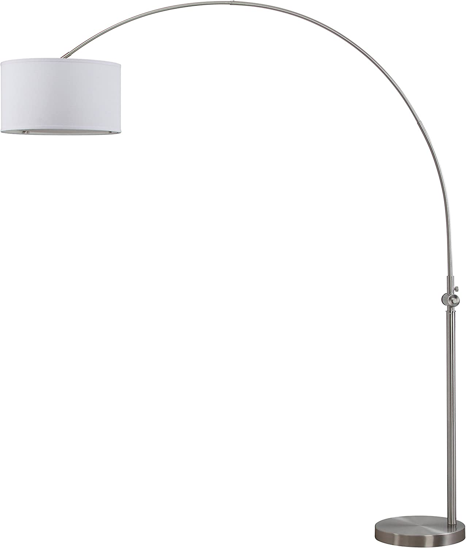 Safavieh Lit4351a Lighting Collection Ascella Nickel Arc Floor Lamp 86