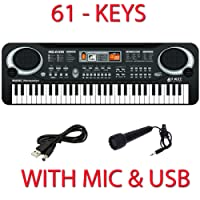 New 61 Key Digital Music Electronic Keyboard Toy Electric Piano Set W Mic Kids Gift