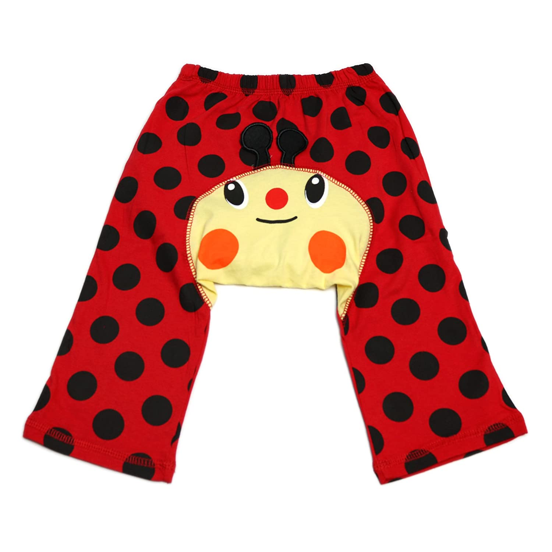 Dotty Fish Bébés et tout-petits Leggings de coton cool Rouge et noir Spots avec coccinelle - Grand / 2-3 ans SL01-95
