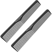 Styling Comb (2 Pack) | Professional 7 Inch Black Carbon Fiber Anti Static Chemical And Heat Resistant Comb For All Hair…