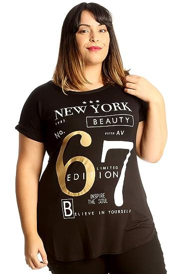42ca1112e826e Amazon.com  Nouvelle Collection. Womens Plus Size T-Shirt Top New ...