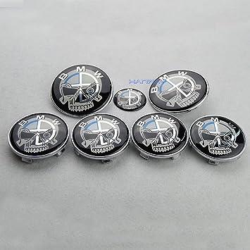 Hanway 7pcs Set frontal tapas de tronco emblema volante rueda centro tapa cráneo Emblema: Amazon.es: Coche y moto
