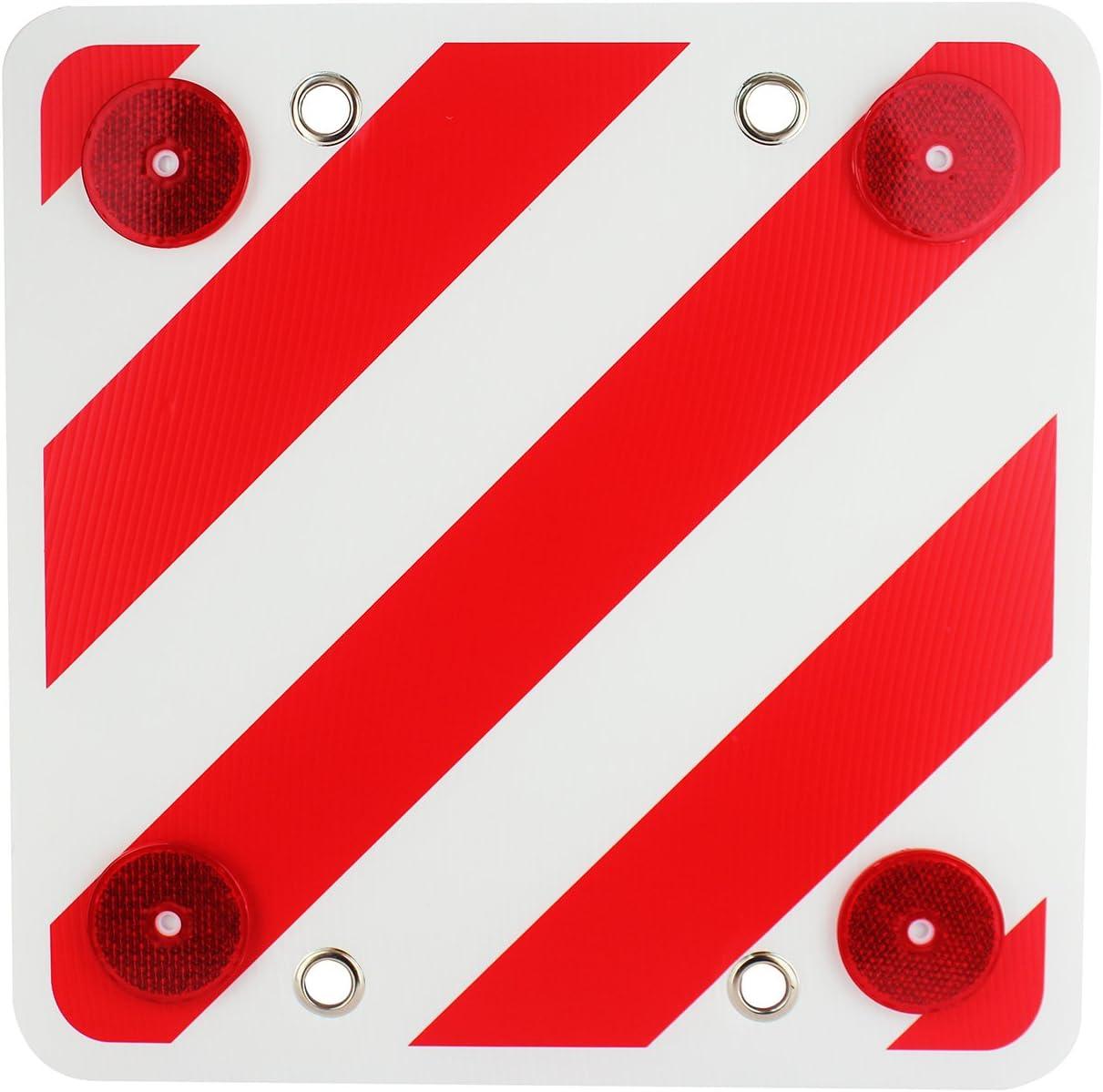 MOLCAR Panel Reflector Trasero para señalización de Cargas,Cuadrada, Visibilidad Noche (40x40cm