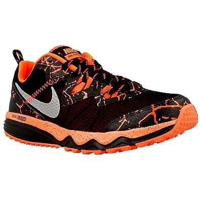 Nike Dual Fusion Trail Lava (Little Kid/Big Kid) Black/Total Crimson
