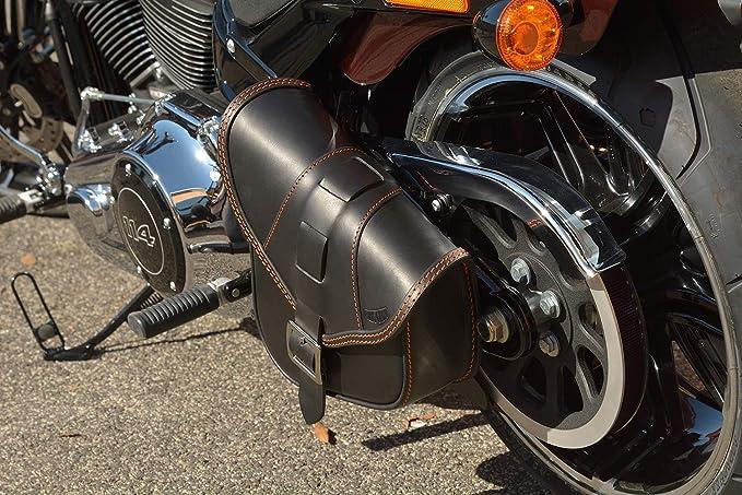 Harley Davidson Schwingentasche DIABLO BLACK ORANGE Fatbob ab 2018 Breakout neu