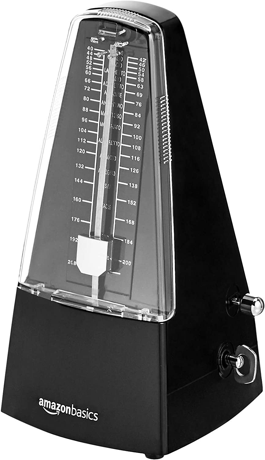 AmazonBasics Mechanical Metronome - Steel Movement - Black