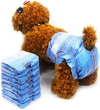Disposable Dog Diapers For Female Dogs Dono Jeans Super Absorbent Soft Pet Diapers For Female Puppy Dogs Including 24pcs Diapers3 Pack24pcs