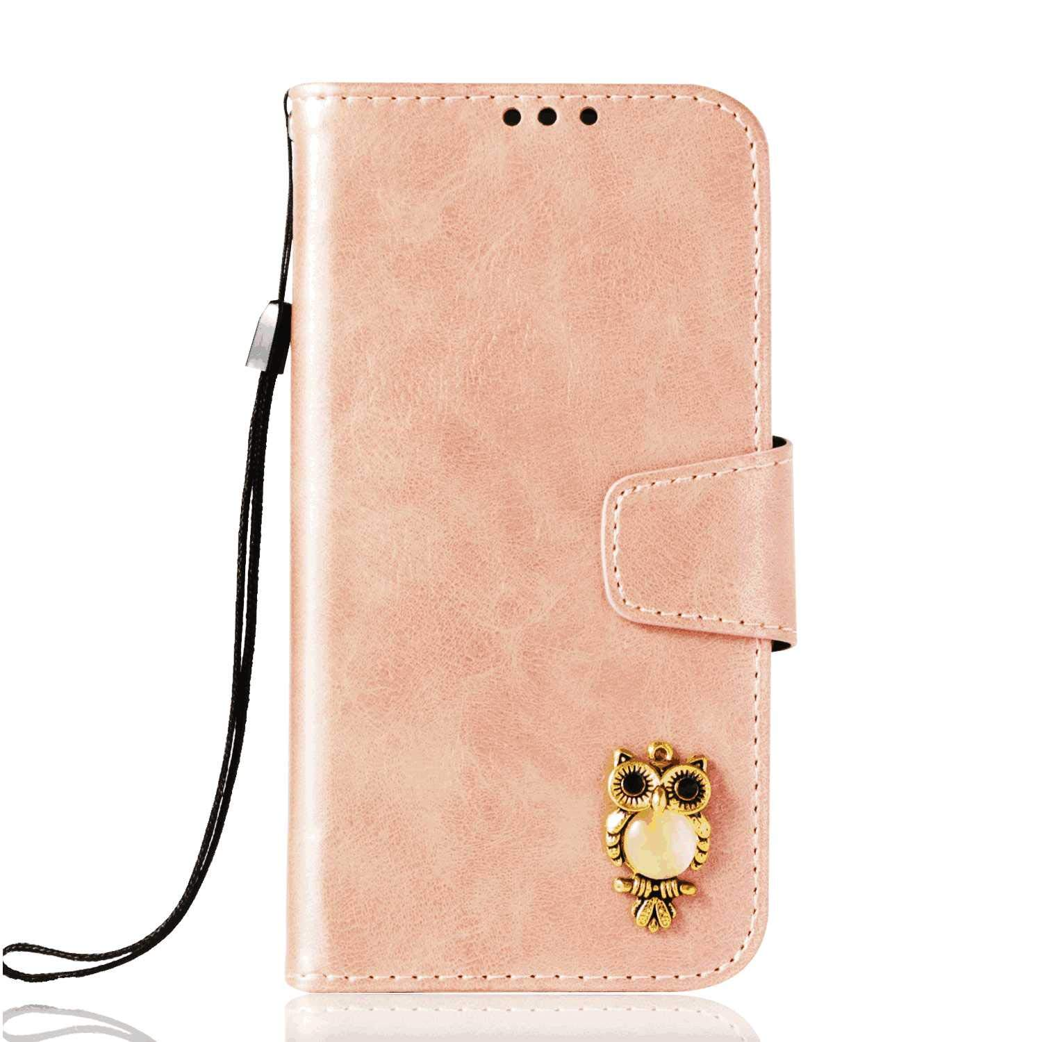 iPhone 8 Plus Flip Case Cover for iPhone 8 Plus Leather Kickstand Cell Phone case Extra-Shockproof Business Card Holders with Free Waterproof-Bag White4