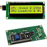 Frentaly® IIC/I2C/TWI 1602 Serial Yellow Green Backlight LCD Module for Arduino UNO R3 MEGA2560 16 X 2, 1602