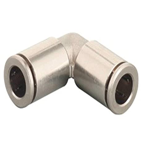 Push To Connect Fittings >> Utah Pneumatic 1 4 Push To Connect Fittings Nickel Plated Brass Elbow Air Fittings Push Connect Air Tube Connectors Push Lock Fittings For Air Tubing