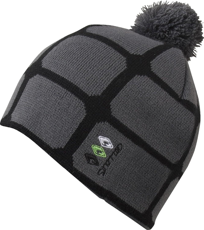 Max - feine UNISEX Strickmütze mit Bommel Wintermütze Mütze schwarz grau TOP NEU