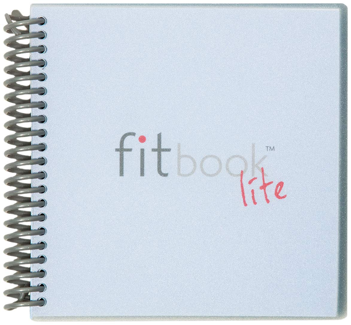 Fitlosophy Fitbook Lite 6-Week Fitness Journal and Weekly Meal Planner, 6.2'' W x 5.8'' L by Fitlosophy