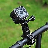 Puluz rotazione di 360gradi bici manubrio in alluminio adattatore di montaggio con vite per GoPro HERO5/5/4sessione/4/3+/3/2/1, Xiaoyi sport fotocamera