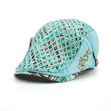 MEIZOKEN Womens Floral Print Newsboy Cap Cotton Beret Hat Duckbill Visor Artist Peaked Boina Gorras Planas Girls, Blue at Amazon Womens Clothing store: