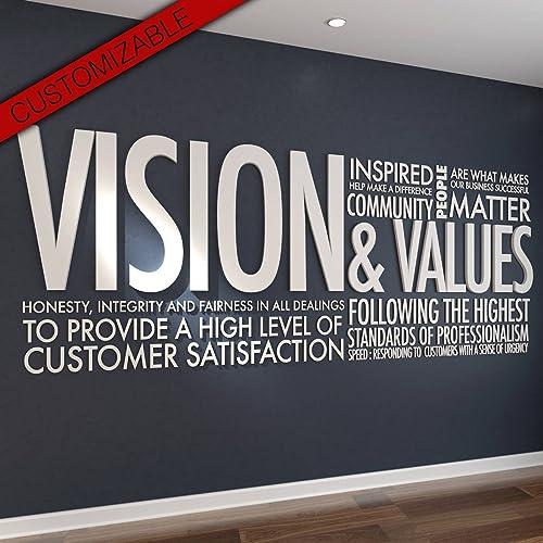 Amazon Com Homeartdecor Vision Values 3d Letters