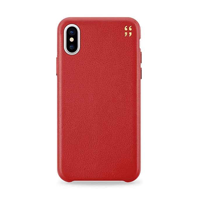 new style 015c1 30655 Casetify Leather iPhone Xs Case with Slim Thin Case with Genuine Leather  Cover Metallic Buttons and Raised Lip for Apple iPhone X Apple iPhone Xs -  ...