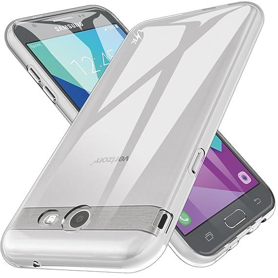 size 40 360bd bd324 LK Case for Samsung Galaxy J7 V / J7 2017 / J7 Prime / J7 Perx / J7 Sky  Pro/Galaxy Halo, Ultra [Slim Thin] TPU Rubber Soft Skin Silicone Protective  ...