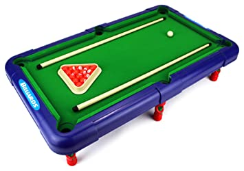 Superior Billiards Novelty Toy Billiard Pool Table Game W/ Table, Full Set  Of Billiard