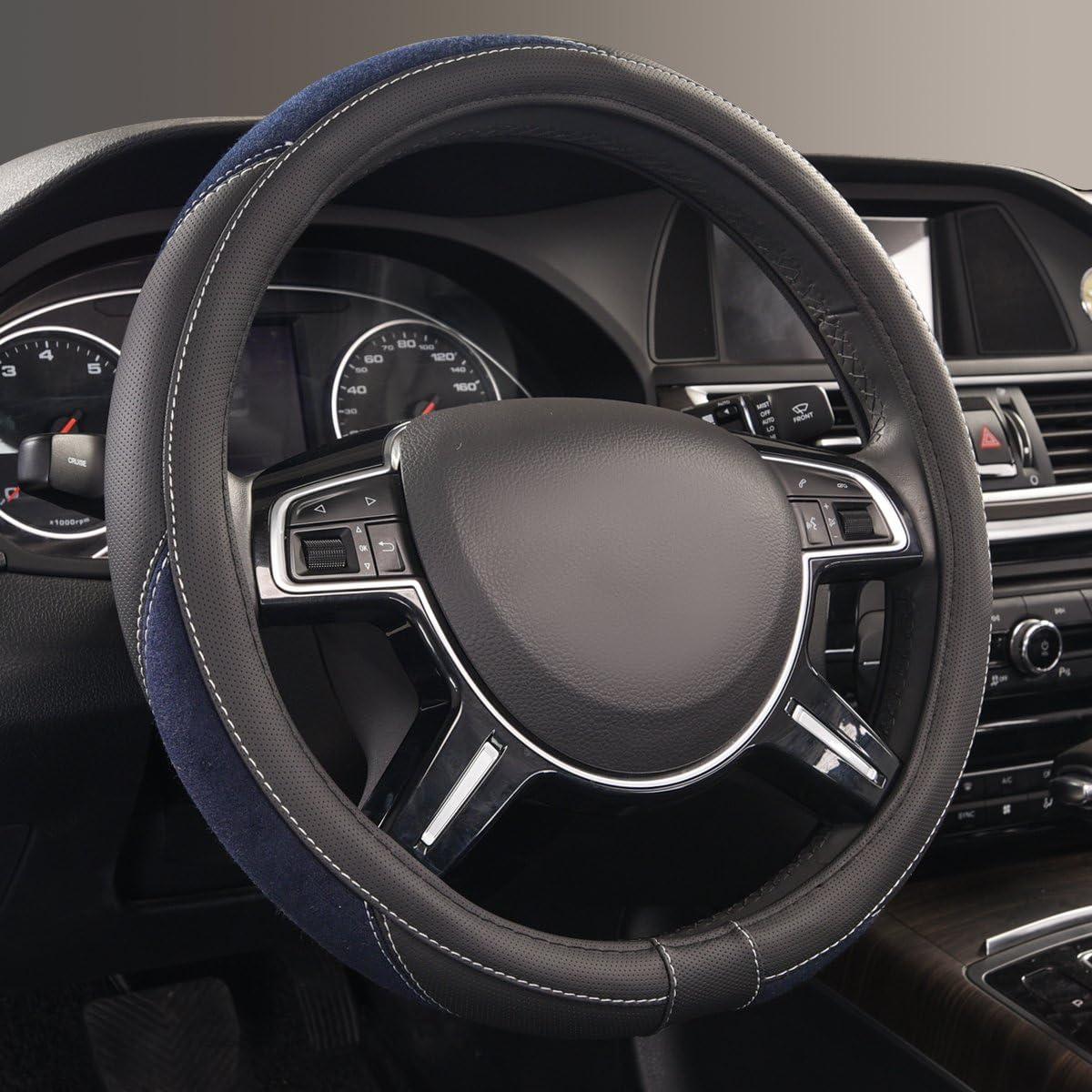 15 CAR PASS Universal cuero Microfibra Suave Funda para Volante Cubierta del Volante del Coche Universal Di/ámetro 38cm