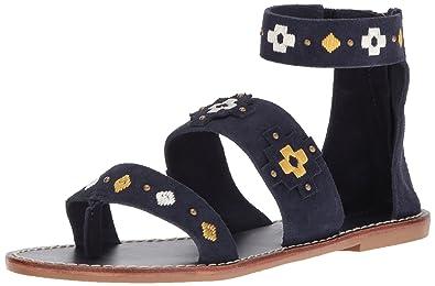 88aea6b2882 Soludos Women s Embroidered Three Banded Platform Sandal Flat