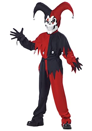 Amazon.com: Evil Bufón Niño Disfraz, Rojo: Toys & Games