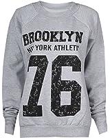 Fast Fashion Damen Sweatshirt Geek Brooklyn Boy Cocaine Druck